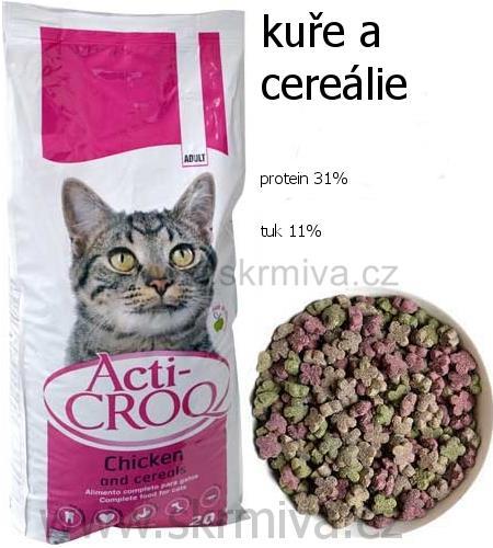 Image of ACTI-CROQ Cat kuře&cereálie 20kg