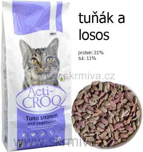 Image of ACTI-CROQ Cat tuňák & losos 20kg