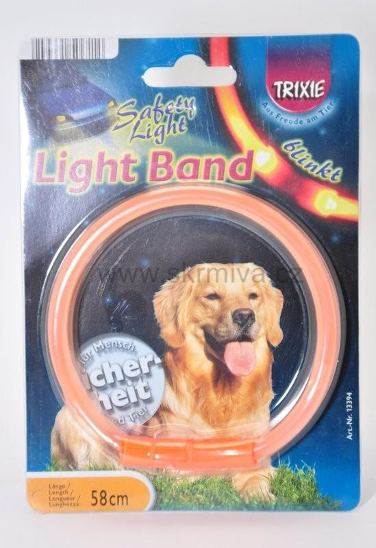 Obojek blikací Light Band Oranžový XL 58cm TR 1ks