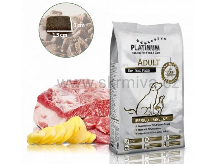 PLATINUM Natural Adult Iberico&Greens 5kg