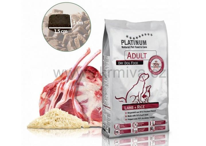 PLATINUM Natural Adult Lamb&Rice 15kg (3x5kg)