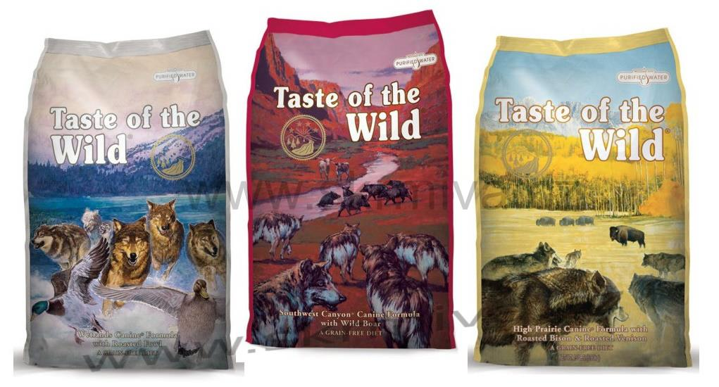 Taste of the Wild Canine 3 x 2kg (Wetlands,High Praire,Southwest Canion)